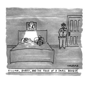 GILLIAN, BARRY, AND THE PRICE OF A SMALL BRAQUE - New Yorker Cartoon by Michael Crawford
