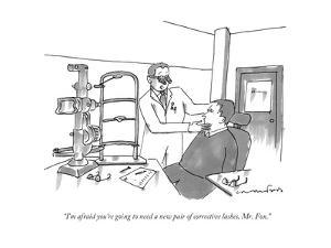 """I'm afraid you're going to need a new pair of corrective lashes, Mr. Fox. - New Yorker Cartoon by Michael Crawford"