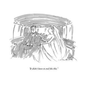 """It didn't have to end like this."" - New Yorker Cartoon by Michael Crawford"