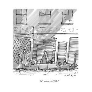 """""""It's an invertible."""" - New Yorker Cartoon by Michael Crawford"""