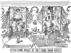 Open-Tank Night at Sal's King Krab Kastle' - New Yorker Cartoon by Michael Crawford