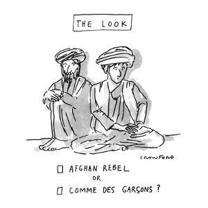 THE LOOK - New Yorker Cartoon by Michael Crawford