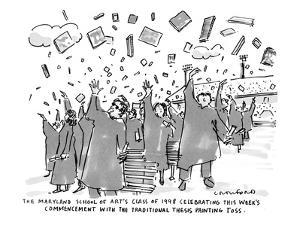 "The Maryland School of Art's Class of 1998 Celebrating This Week's Commenc…"" - New Yorker Cartoon by Michael Crawford"