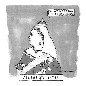 VICTORIA'S SECRET - New Yorker Cartoon by Michael Crawford