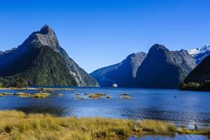 Cruise Ship Passing Through Milford Sound by Michael