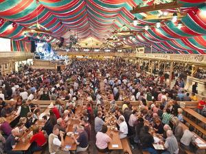 Beer Hall at the Stuttgart Beer Festival, Cannstatter Wasen, Stuttgart, Baden-Wurttemberg, Germany, by Michael DeFreitas