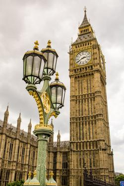 Big Ben or Great Bell, Palace of Westminster, Houses of Parliament, London, England. by Michael DeFreitas