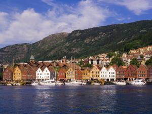Bryggen Shopping District, Bergen, Norway by Michael DeFreitas