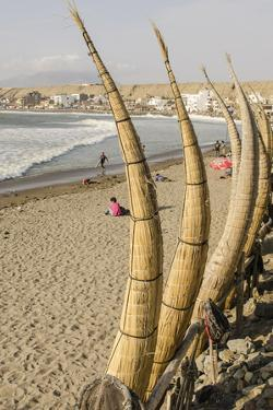 Caballitos De Totora or Reed Boats on the Beach in Huanchaco, Peru, South America by Michael DeFreitas