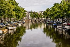 Canal Amsterdam, Holland, Netherlands. by Michael DeFreitas