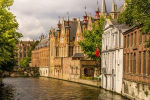 Canal scene, Bruges, West Flanders, Belgium. by Michael DeFreitas
