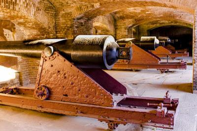 Cannon battery at Historic Fort Sumter National Monument, Charleston, South Carolina. by Michael DeFreitas
