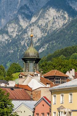Colorful buildings in Old Town, Innsbruck, Tyrol, Austria. by Michael DeFreitas