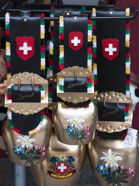 Cowbell Souvenirs in Zermatt, Switzerland, Europe by Michael DeFreitas