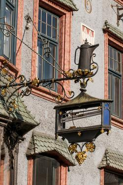 Decorative ornate metal store signs, Old Town, Innsbruck, Tyrol, Austria. by Michael DeFreitas