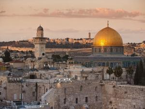 Dome of the Rock and the Western Wall, Jerusalem, Israel, Middle East by Michael DeFreitas