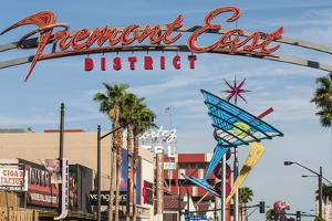 Fremont Street and Neon Sign, Las Vegas, Nevada, United States of America, North America by Michael DeFreitas