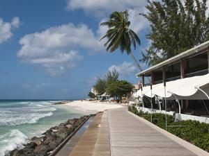 Hastings Beach Boardwalk, Barbados, Windward Islands, West Indies, Caribbean, Central America by Michael DeFreitas