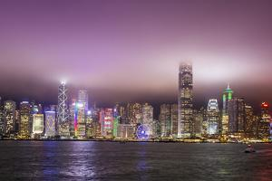 Hong Kong Island skyline and Victoria Harbour, Hong Kong, China. by Michael DeFreitas