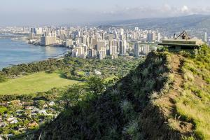 Honolulu from Atop Diamond Head State Monument (Leahi Crater) by Michael DeFreitas
