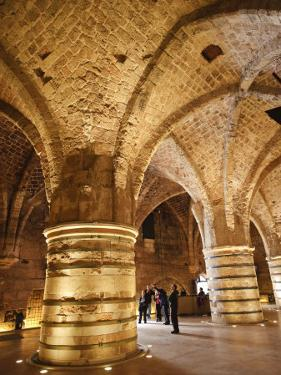 Interior of the Crusader Castle, Akko, Israel, Middle East by Michael DeFreitas