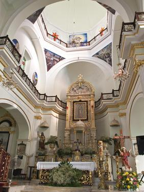 Interior of the Lady of Guadalupe Church, Puerto Vallarta, Jalisco, Mexico, North America by Michael DeFreitas