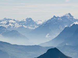 Jungfrau Massif from Schilthorn Peak, Jungfrau Region, Switzerland by Michael DeFreitas