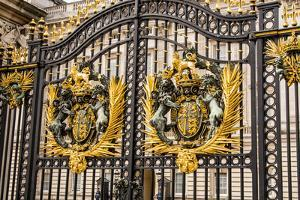 Main gates at Buckingham Palace, London, England. by Michael DeFreitas