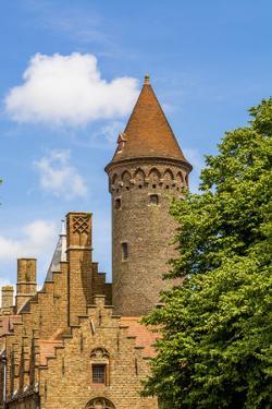 Medieval architecture, Bruges, West Flanders, Belgium. by Michael DeFreitas
