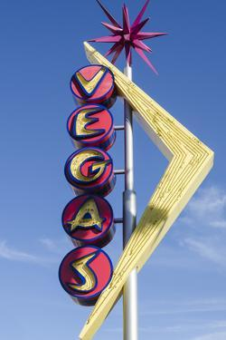 Nevada, Las Vegas, Fremont Street. Oscar'S Neon Martini Glass and Vegas Neon Signs by Michael DeFreitas