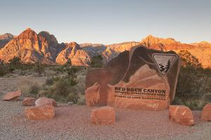 Park Sign Red Rock Canyon Outside Las Vegas, Nevada, USA by Michael DeFreitas