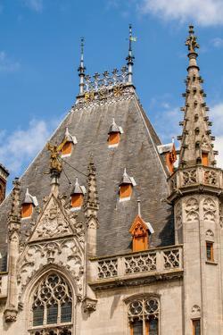 Provincial Court in The Markt or Market Square, Bruges, West Flanders, Belgium. by Michael DeFreitas