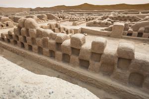 Ruins of Chan Chan Pre-Columbian Archaeological Site Near Trujillo, Peru, South America by Michael DeFreitas