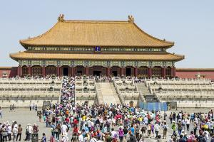 Second Courtyard and Hall of Supreme Harmony Forbidden City, Beijing China by Michael DeFreitas