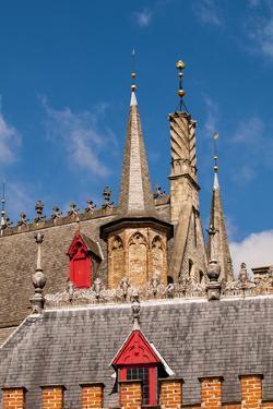 Spires and steeples in Bruges, West Flanders, Belgium. by Michael DeFreitas
