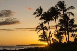 Sunset at Poipu Beach, Kauai, Hawaii, United States of America, Pacific by Michael DeFreitas