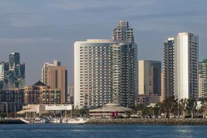 The San Diego skyline and harbor, San Diego, California. by Michael DeFreitas