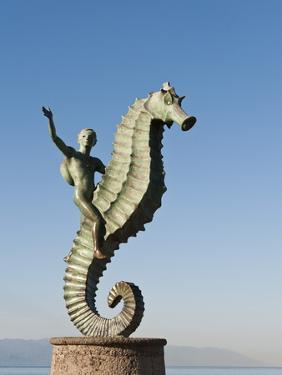 The Seahorse Sculpture on the Malecon, Puerto Vallarta, Jalisco, Mexico, North America by Michael DeFreitas