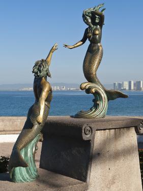 Triton and Nereida Sculpture on the Malecon, Puerto Vallarta, Mexico by Michael DeFreitas