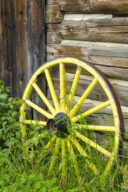 Wagon Wheel in Old Gold Town Barkersville, British Columbia, Canada by Michael DeFreitas