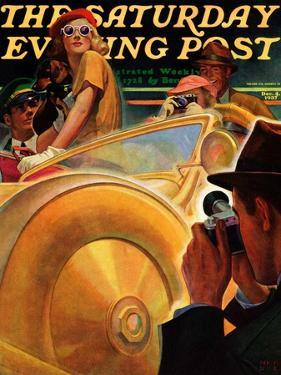 """Photo Opportunity,"" Saturday Evening Post Cover, December 4, 1937 by Michael Dolas"