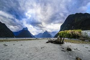 Dramatic Clouds in Milford Sound by Michael