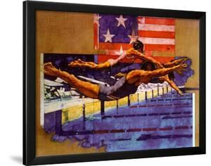 Olympic Swimmers by Michael Dudash