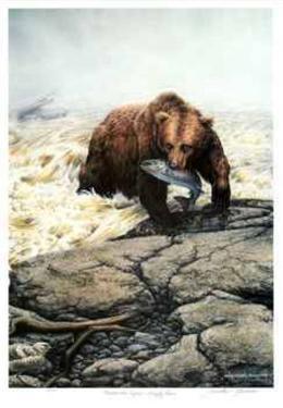 Northwest Legend - Grizzly Bear by Michael Dumas