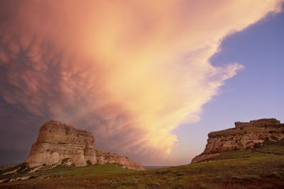 Clouds Hoover over Courthouse and Jail Rocks by Michael Forsberg