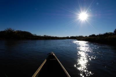 View of the Sun Shining on a River from a Canoe by Michael Forsberg