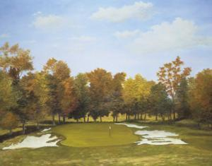 Autumn at the Country Club's Fourth Hole by Michael G. Miller