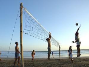 Beach Volleyball at Legian Beach, Bali, Indonesia by Michael Gebicki
