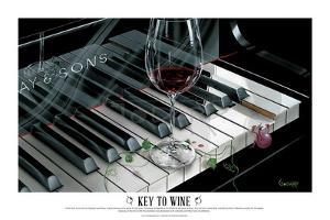 The Key to Wine by Michael Godard