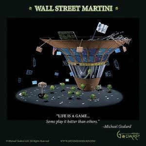 Wall Street Martini by Michael Godard